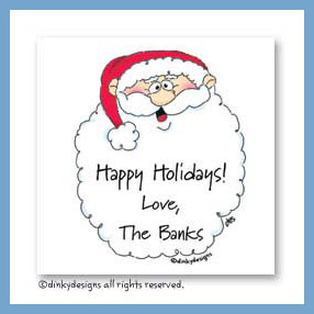 Jolly ol' St. Nick gift cards, personalized