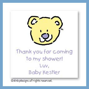 Bear for baby gift cards, personalized