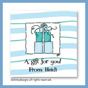 Pink & teal trio gift cards - 2 up, personalized