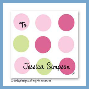 Pink-a-boo gift cards, personalized