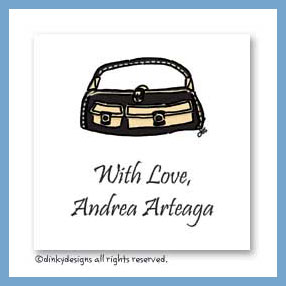 Black & tan pocketbook gift cards, personalized