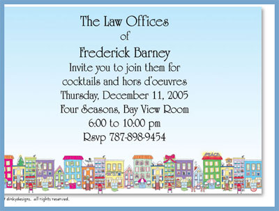 City sidewalks invitations or announcements, personalized