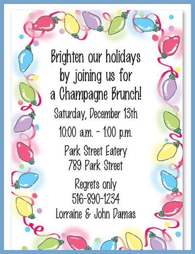 Lots of lights invitations or announcements, personalized