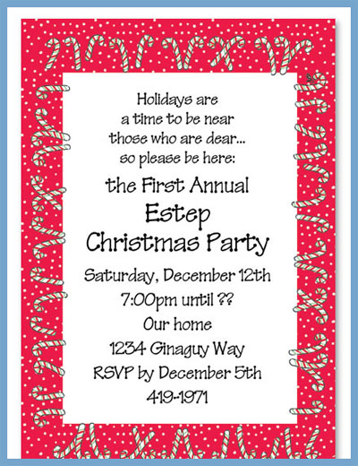 Candy cane lane invitations or announcements, personalized