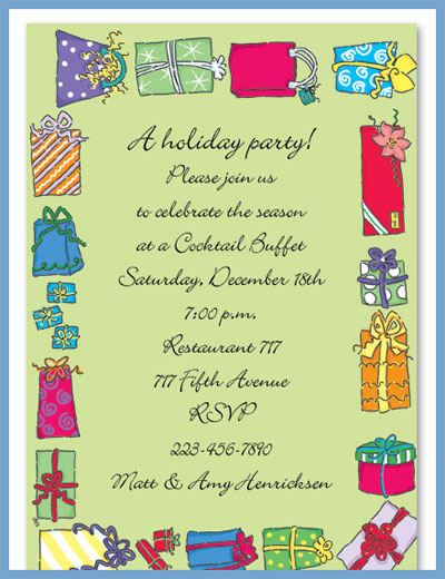 Packages tied-up in string invitations or announcements, personalized