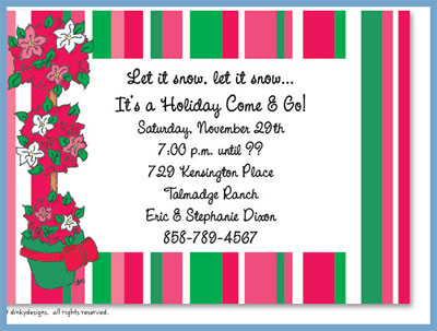 Merry topiary invitations or announcements, personalized