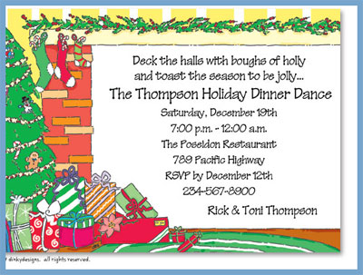 Christmas morning invitations or announcements, personalized