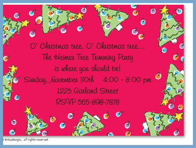 Spruced-up holiday invitations or announcements, personalized