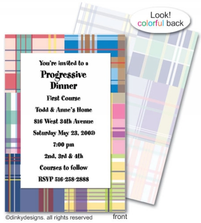 Madras invitations or announcements, personalized