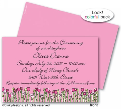 Petal pushers invitations or announcements, personalized