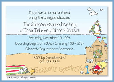 Seashore greetings invitations or announcements, personalized