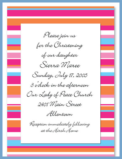Summer line invitations or announcements, personalized
