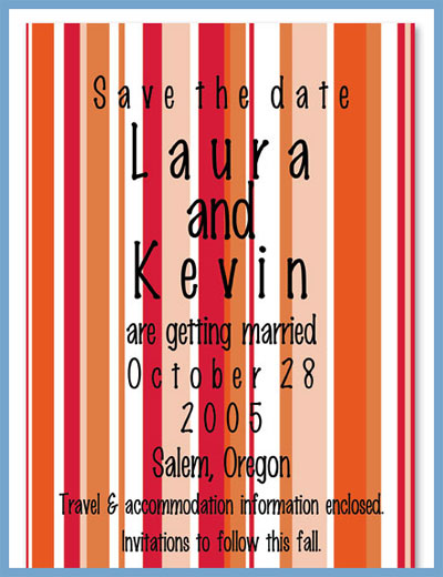 Fall line invitations or announcements, personalized