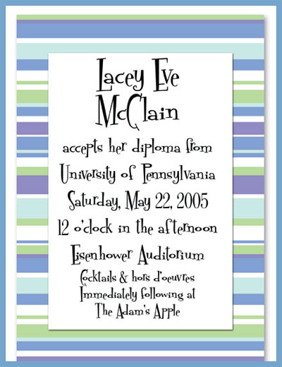 Winter line invitations or announcements, personalized