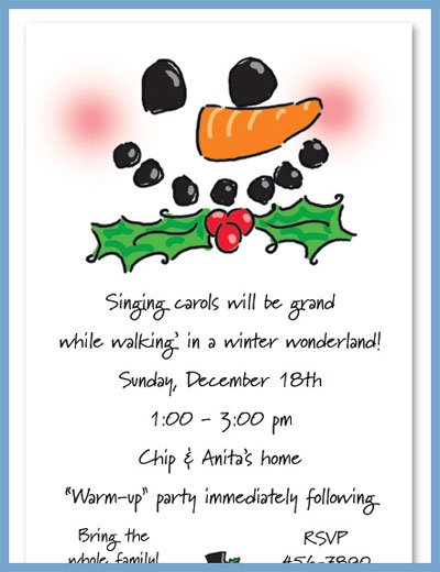 Hats off, Frosty! invitations or announcements, personalized