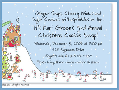 Gingerbread invitations or announcements, personalized