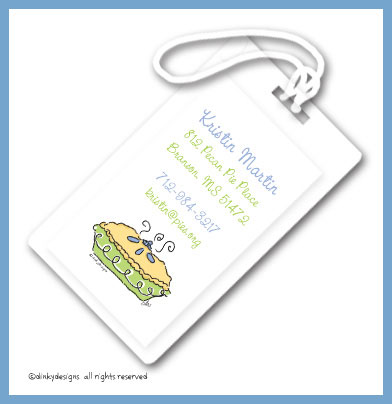 Ballet slippers luggage tags on pre-printed cardstock, personalized
