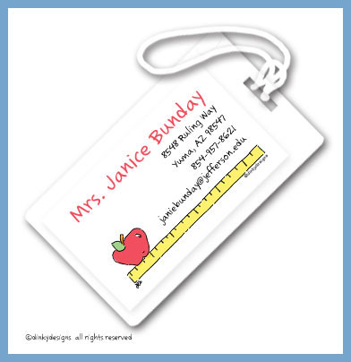 Apple rules luggage tags, personalized