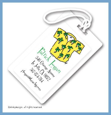 Beach bum luggage tags, personalized