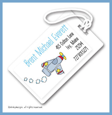 Been flying luggage tags, personalized