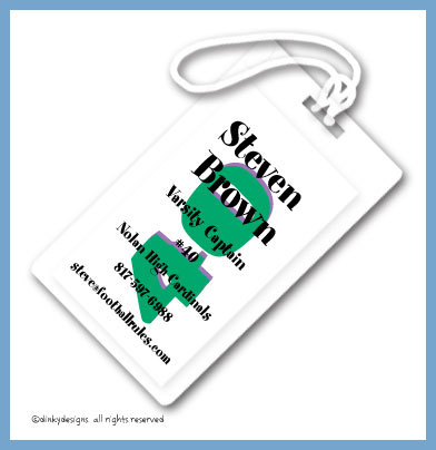 40 and lovin' it luggage tags, personalized