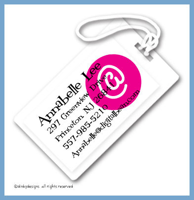 At peace luggage tags, personalized