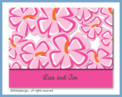 Tropicana folded note cards, personalized
