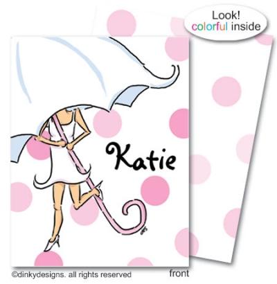 Umbrella bride folded note card note card