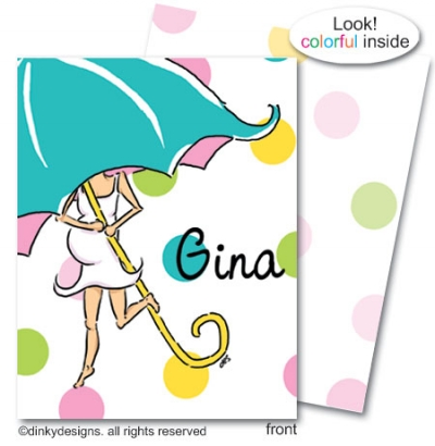 Mommy shower folded note card note card