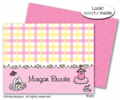 Everything nice folded note cards, personalized