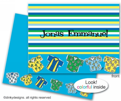 Beach bum folded note cards, personalized