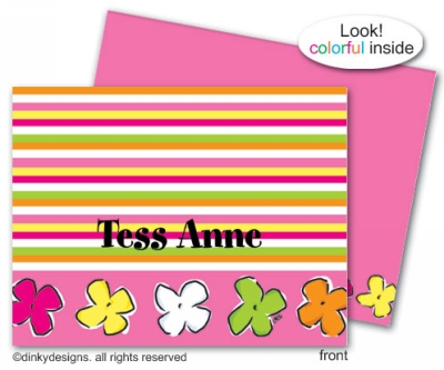 Posie paradise folded note cards, personalized