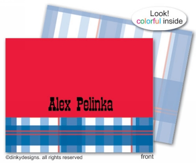 All American folded note cards, personalized