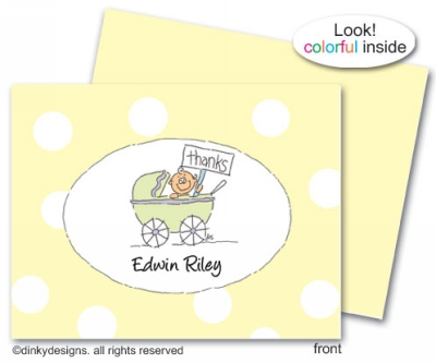 First comes love folded note cards, personalized