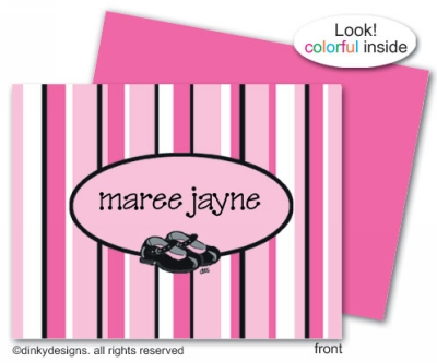 Mary Jane folded note cards, personalized