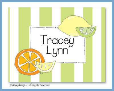 Margarita fixins folded note cards, personalized