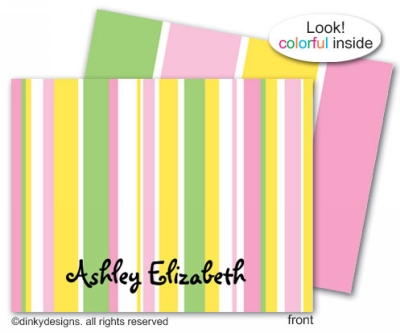 Spring line folded note cards, personalized
