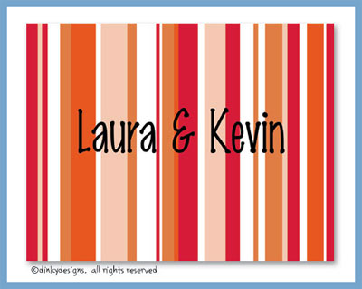 Fall line folded note cards, personalized