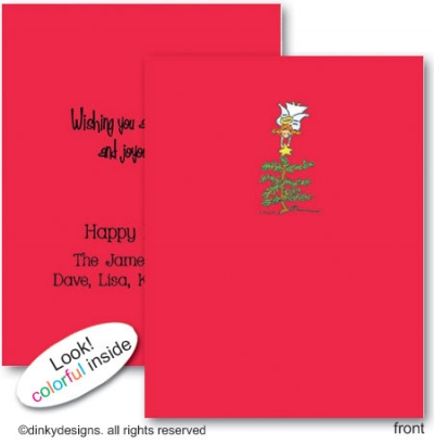 Angelic star folded note cards, personalized