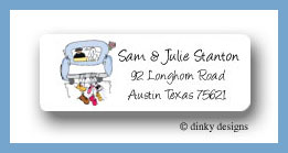 Wedding day return address labels personalized