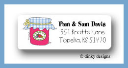 Jar of jam return address labels personalized