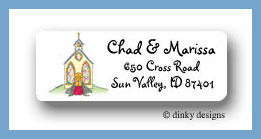 Here's the church return address labels personalized