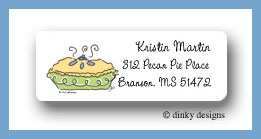 Perfect pie return address labels personalized