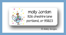 Eek! A party mouse return address labels personalized