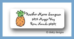 Pineapple return address labels personalized