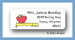 Apple rules return address labels personalized