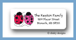 Love bugs return address labels personalized
