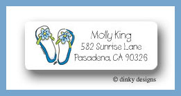 Flippin' flops return address labels personalized