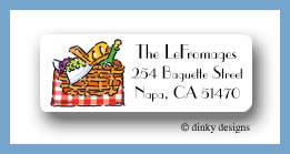 Picnic at the park return address labels personalized