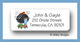 Barbeque return address labels personalized